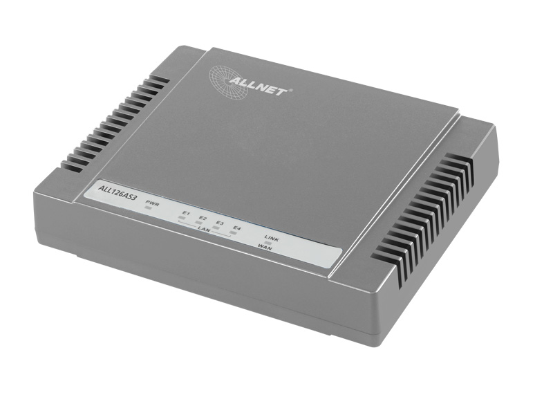 ALLNET ALL126AS3 - Router - DSL-Modem - 4-Port-Switch - GigE