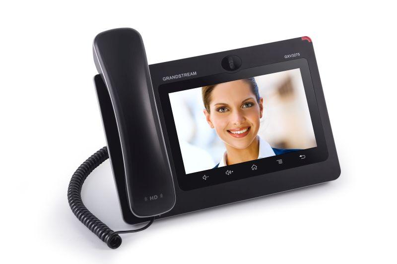 Grandstream GXV3275 - IP-Videotelefon - IEEE 802.11b/g/n (Wi-Fi) - SIP, RTCP, RTP, SRTP - 6 Leitungen