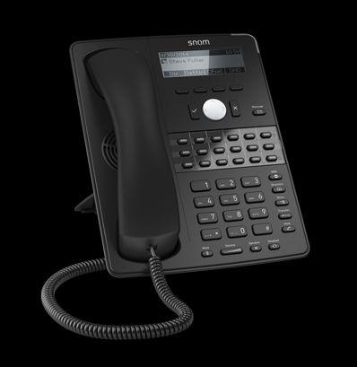 snom D725 - VoIP-Telefon - SIP - 12 Leitungen - Schwarz