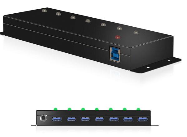 RaidSonic ICY BOX IB-AC677 - Hub - 7 x SuperSpeed USB 3.0 - Desktop