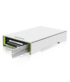 RAIDON RunneR Series GR2660-B3 - Festplatten-Array - 2 Schächte ( SATA-600 ) - USB 3.0 (extern)