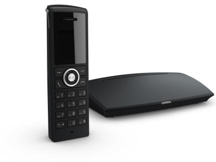 snom M325 - Schnurloses VoIP-Telefon mit Rufnummernanzeige/Anklopffunktion - DECT - SIP - mehrere Leitungen - Schwarz