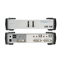 ATEN CubiQ CS1762A - KVM-/Audio-Switch - USB - 2 x KVM/Audio - 1 lokaler Benutzer - Desktop