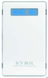 RaidSonic ICY BOX IB-220U-Wh - Speichergehäuse mit LCD-Anzeige - 6.4 cm (2.5