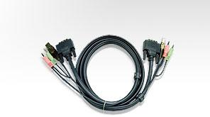 ATEN 2L-7D05U - Video- / USB- / Audio-Kabel - USB, stereo mini jack, DVI-D (M) bis stereo mini jack, USB Type B, DVI-D (M) - 5 m