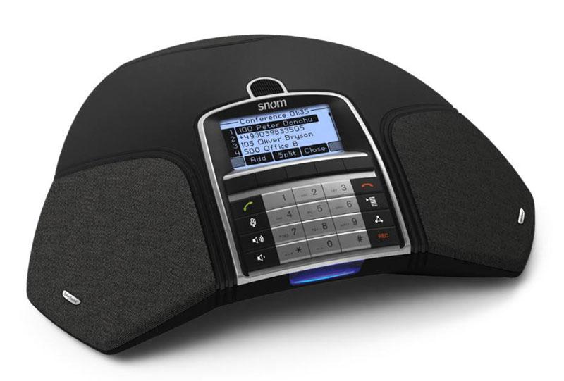snom MeetingPoint - VoIP-Konferenztelefon - SIP - Schwarz