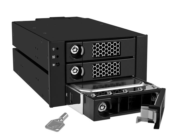 RaidSonic ICY BOX IB-553SSK - Gehäuse für Speicherlaufwerke mit Lüfter - 8.9 cm ( 3.5