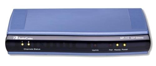 AudioCodes MediaPack Series MP-112 - VoIP-Gateway - 2 Anschlüsse - 10Mb LAN, 100Mb LAN