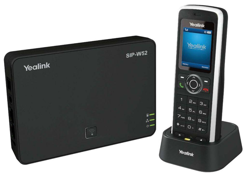 Yealink W52P - Schnurloses VoIP-Telefon - IP-DECT\GAP - SIP, SIP v2, SRTP