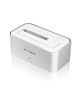 RaidSonic ICY BOX IB-111StU3-Wh - HDD-Dockingstation mit Datenanzeige, Netzanzeige, EasySwap Mechanism, Ein/Aus-Schalter - 6,4 cm/8,9 cm gemeinsam genutzt (2,5