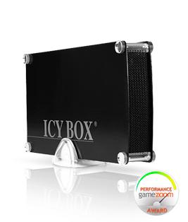 RaidSonic ICY BOX IB-351StU3-B - Speichergehäuse mit Datenanzeige, Netzanzeige, Ein/Aus-Schalter - 8.9 cm ( 3.5