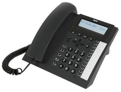 Tiptel 2020 - ISDN-Telefon - Anthrazit